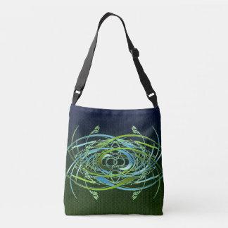 Green n Blue Swirls Crossbody Bag
