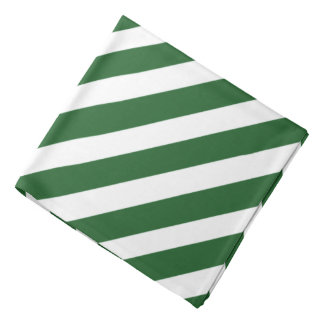 Green 'n White Pirate Stripes Bandana