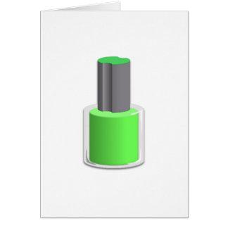 Green Nail Polish Card