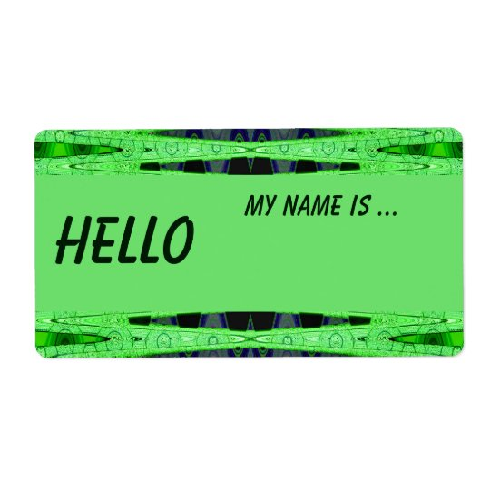 green name badge shipping label