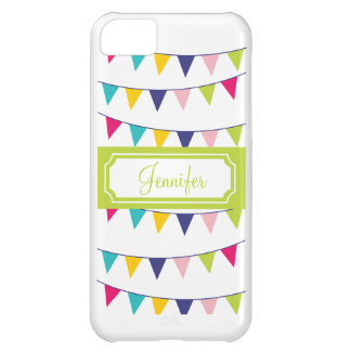 Green Name Carnival Flags Cute iPhone Case