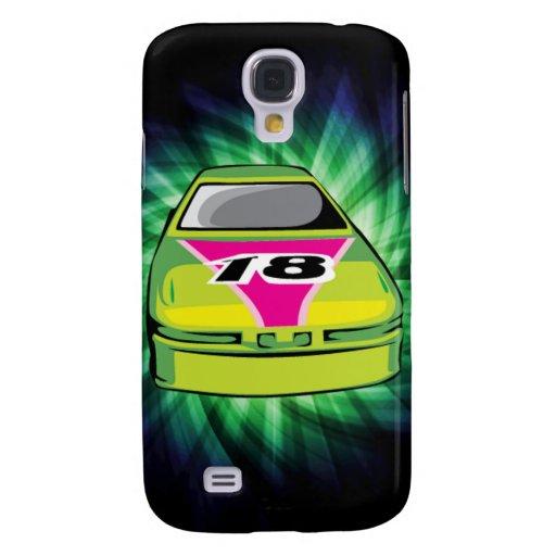 Green Nascar Galaxy S4 Cases