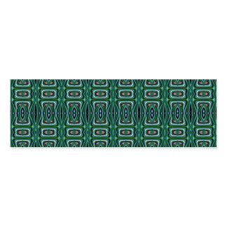 Green Native American Fabric Design Aztec Pattern Business Card Templates