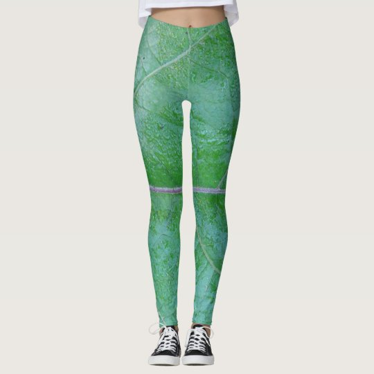 GREEN NATURAL  by Slipperywindow.com Leggings