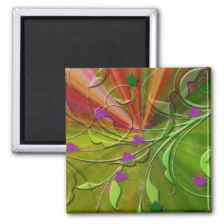 Green Nature Abstract Magnet