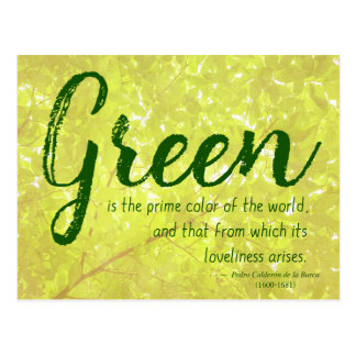 Green... - Nature/Environment Quote Postcard