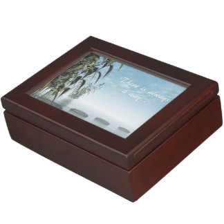 Green nature pebbles - 3D render Keepsake Box