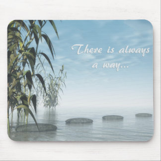 Green nature pebbles - 3D render Mouse Pad