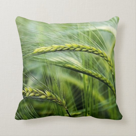 Green Nature Relax Paradise Throw Pillow