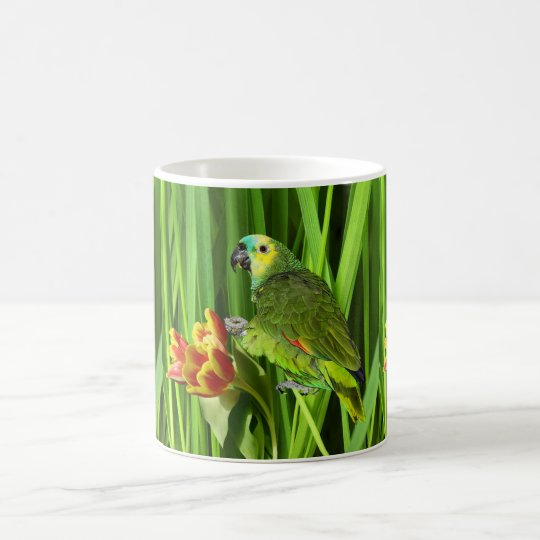 Green Nature With Parrot Coffee Mug
