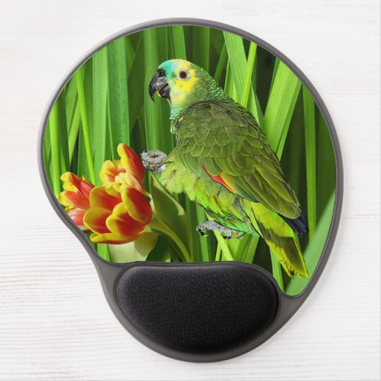 Green Nature With Parrot Gel Mouse Pad