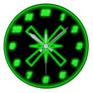 Green Neon (Effect) Wall Clocks