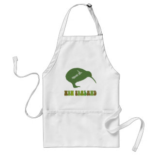 Green New Zealand Kiwi Cooking Apron