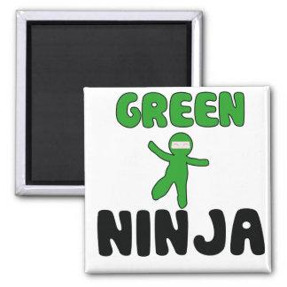 Green Ninja Square Magnet