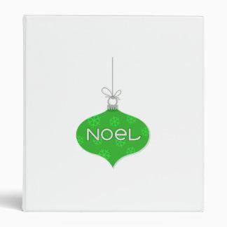 Green Noel Christmas Ornament Binders