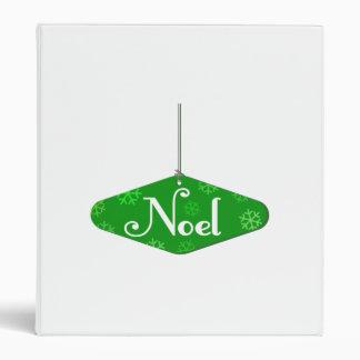 Green Noel Christmas Ornament Vinyl Binder
