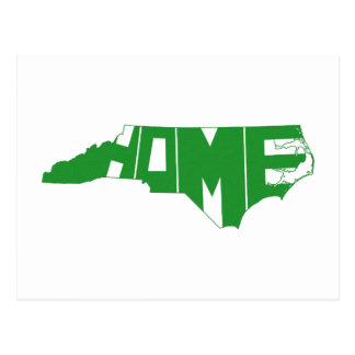 Green North Carolina Home State Word Art Postcard