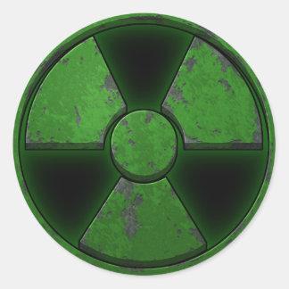 Green Nuke Classic Round Sticker