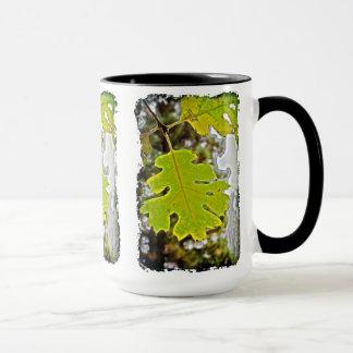 Green Oak Leaf HDR Mug