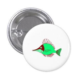 Green Ocean Fish Pinback Buttons