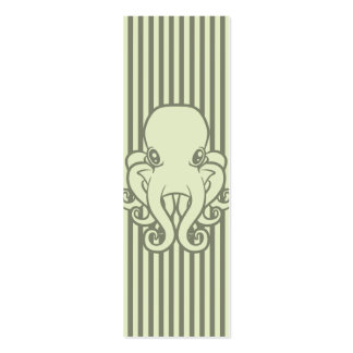 Green Octopus Bookmark Pack Of Skinny Business Cards