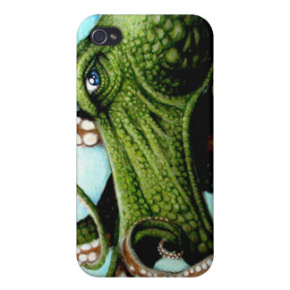 Green Octopus Case For iPhone 4