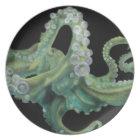 Green Octopus Plate