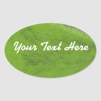 Green Oil Pastel Oval Sticker | Customize