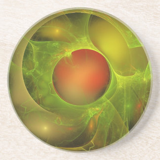 Green Oil Red Water Drink Coaster