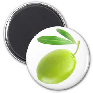 Green olive 2 inch round magnet