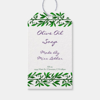 Green Olive Leaves Custom Soap Tags Pack Of Gift Tags