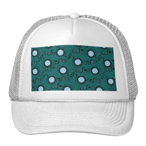 Green olive polka dot pattern trucker hats