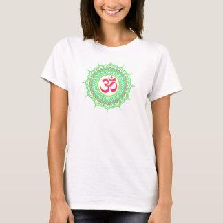 Green om mandala women's T-shirt
