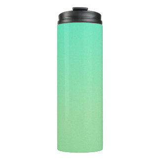 Green Ombre Glitter Look Thermal Tumbler