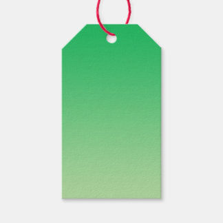 Green Ombre Pack Of Gift Tags