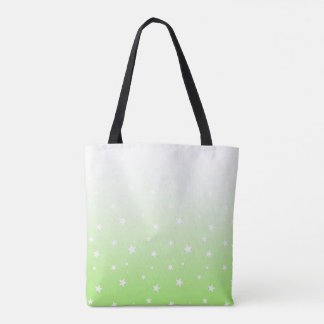 Green Ombre Stars Tote Bag