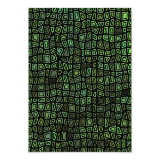 Green on Black Mosaic Pattern Card