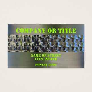 Green On Stainless Steel Business Card