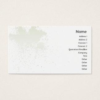 Green On White Splatter - Business Business Card