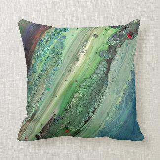 Green One Throw Pillow