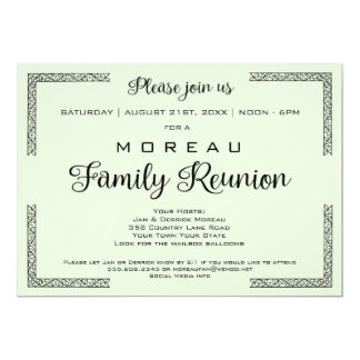 Green or Any Color Family Reunion Invitation