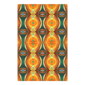 Green Orange Artistic Abstract Pattern Full Colour Flyer