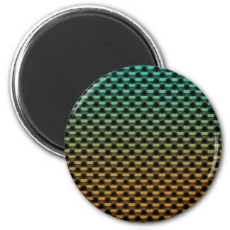 Green Orange Geometric Gradient 2 Inch Round Magnet
