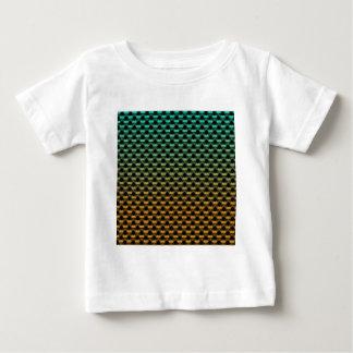 Green Orange Geometric Gradient Baby T-Shirt