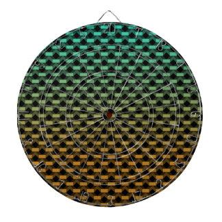 Green Orange Geometric Gradient Dartboard