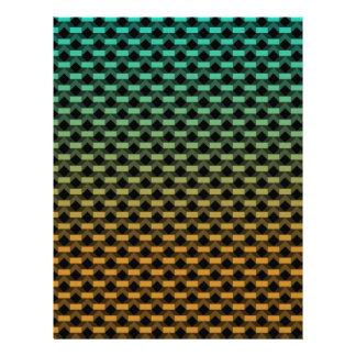 Green Orange Geometric Gradient Letterhead