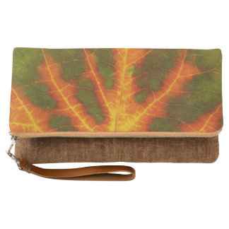 Green Orange & Yellow Aspen Leaf #1 Clutch