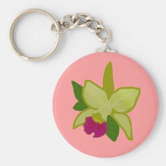 Green Orchid key chain