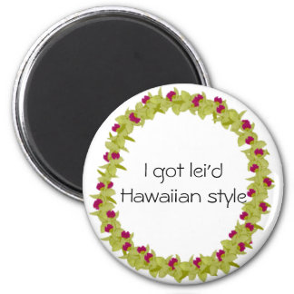 Green orchid lei  magnet
