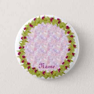 Green orchid lei template button